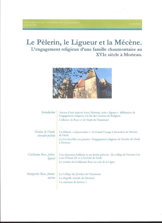 Conf Le Pélerin, le Ligueur et la Mécène